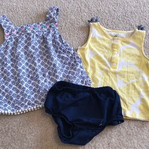 2/$15 Carters 2 outfit bundle💙
